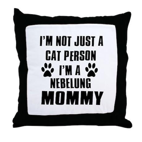 Nebelung Cat Design Throw Pillow