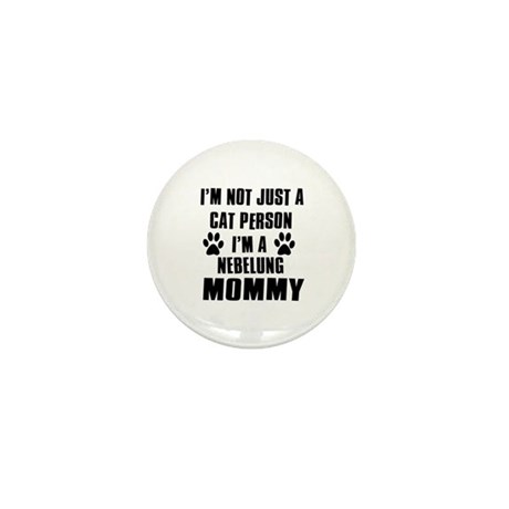 Nebelung Cat Design Mini Button (10 pack)