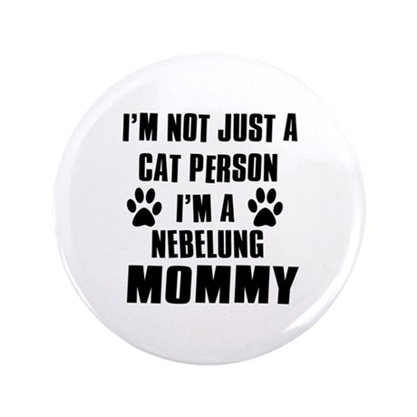 "Nebelung Cat Design 3.5"" Button (100 pack)"