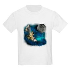 Northern Lights Wolfs Family Moon T-Shirt