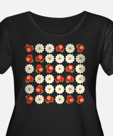 Strawberries and daisies Plus Size T-Shirt