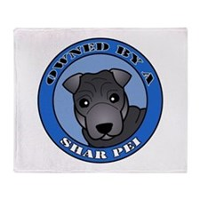 Cute Sharpei Throw Blanket