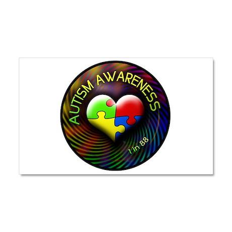 Autism Awareness - 1 in 88 Car Magnet 20 x 12