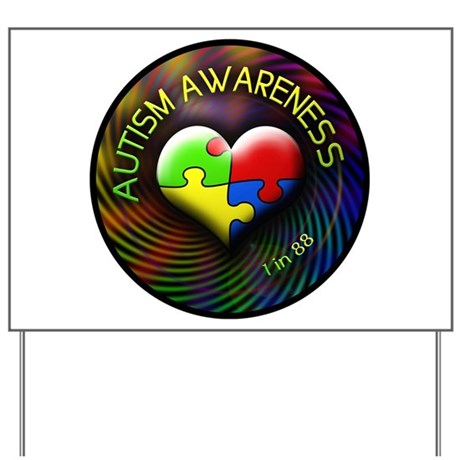 Autism Awareness - 1 in 88 Yard Sign