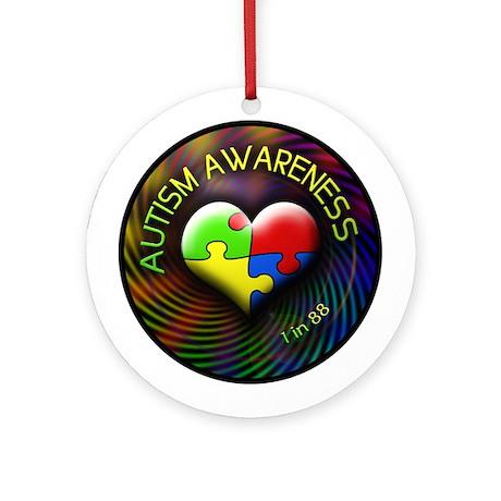 Autism Awareness - 1 in 88 Ornament (Round)