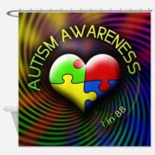 Autism Awareness - 1 in 88 Shower Curtain