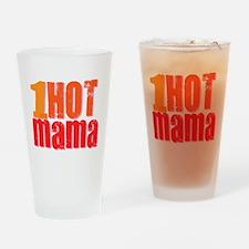 1 Hot Mama Drinking Glass