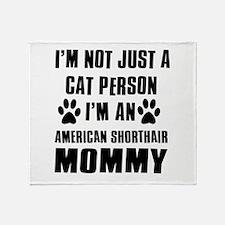 American Shorthair Cat Design Throw Blanket