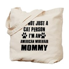 American Wirehair Cat Design Tote Bag