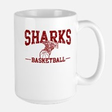 Sharks Basketball Large Mug