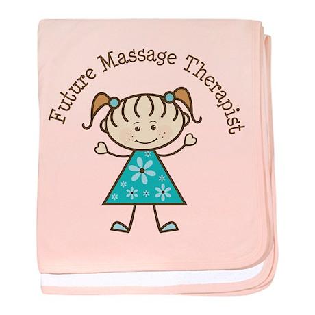 Future Massage Therapist Girl baby blanket