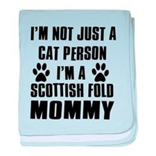 Scottish Fold Cat Design baby blanket