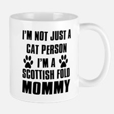 Scottish Fold Cat Design Mug