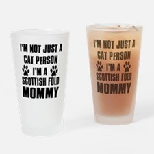 Scottish Fold Cat Design Drinking Glass