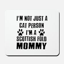 Scottish Fold Cat Design Mousepad