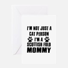 Scottish Fold Cat Design Greeting Card