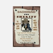 Sheriff -RecMag -Dachshund,BlackTan Magnets