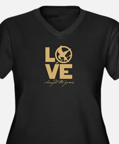 love and real or not real Women's Plus Size V-Neck