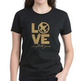 The hunger games love t-shirt Tops