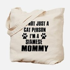 Siamese Cat Design Tote Bag