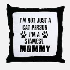 Siamese Cat Design Throw Pillow