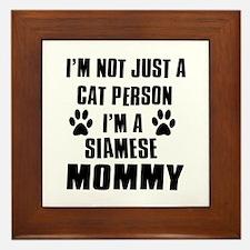 Siamese Cat Design Framed Tile