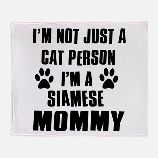 Siamese Cat Design Throw Blanket