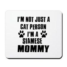 Siamese Cat Design Mousepad