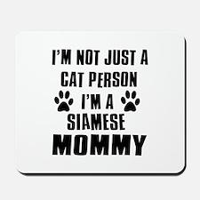 Siamese Cat Design Mousepad