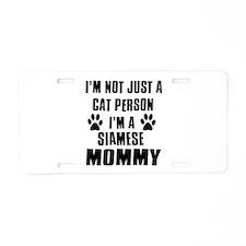 Siamese Cat Design Aluminum License Plate