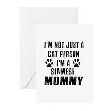 Siamese Cat Design Greeting Cards (Pk of 10)