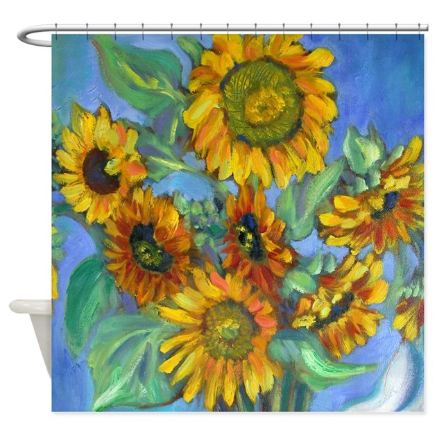 SUNFLOWERS Shower Curtain By Lizlauterfreshmessage