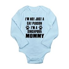 Singapura Cat Design Long Sleeve Infant Bodysuit