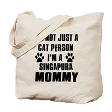 Singapura Cat Design Tote Bag