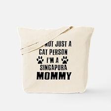 Singapura Cat Design Tote Bag