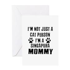 Singapura Cat Design Greeting Card