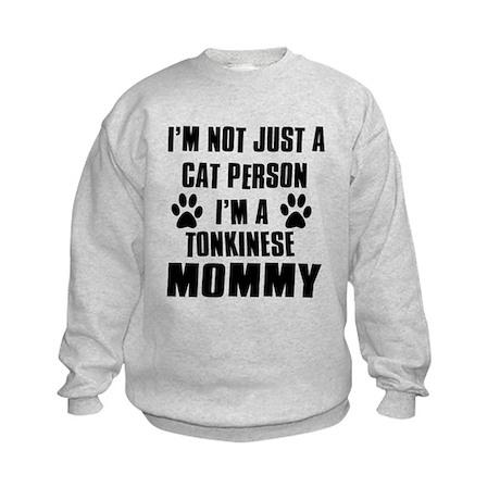 Tonkinese Cat Design Kids Sweatshirt