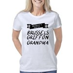 Unique Hand Print Organic Women's Fitted T-Shirt (