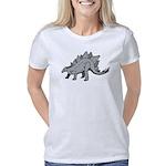 Unique Hand Print Women's Long Sleeve Dark T-Shirt