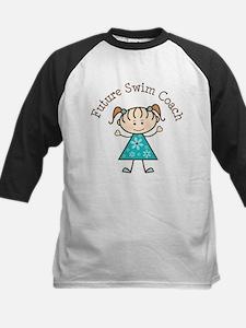 Future Swim Coach Girl Kids Baseball Jersey