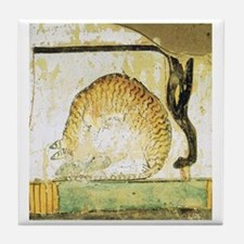 Egyptian Cats Tile Coaster