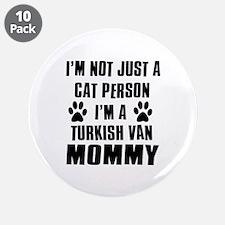 "Turkish Van Cat Design 3.5"" Button (10 pack)"