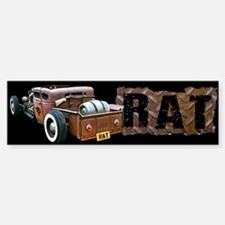 Rat Rod Truck Bumper Bumper Sticker