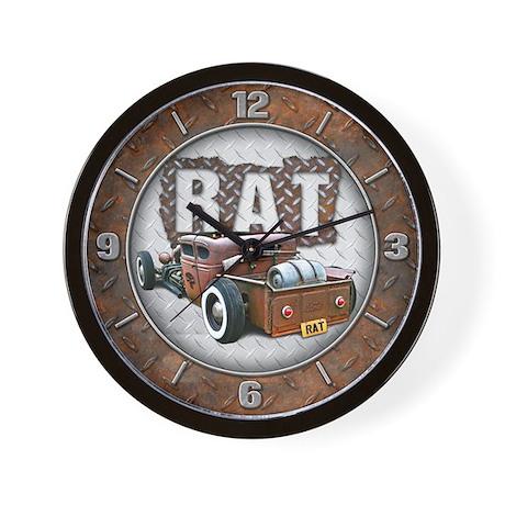 Rat Rod Truck Wall Clock