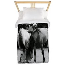 pONY lOVE bLACK AND WHITE Twin Duvet