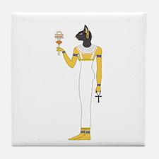 Funny Egyptian cat Tile Coaster