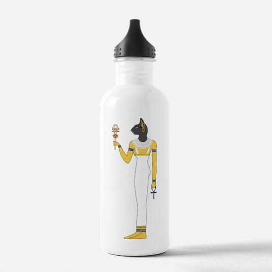 Cute Egyptian cat Water Bottle