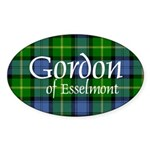 Tartan - Gordon of Esselmont Sticker (Oval 10 pk)
