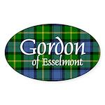 Tartan - Gordon of Esselmont Sticker (Oval 50 pk)