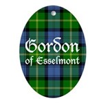 Tartan - Gordon of Esselmont Ornament (Oval)